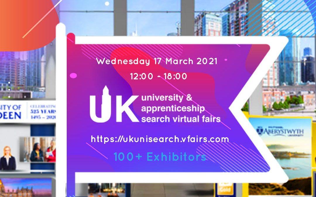 Virtual UK University & Apprenticeship Search Fair – 17th March